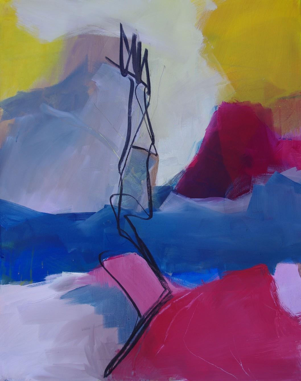 Serie Cote Rose, Die Nebel Phrase, Pigment, 2018, 100x80cm