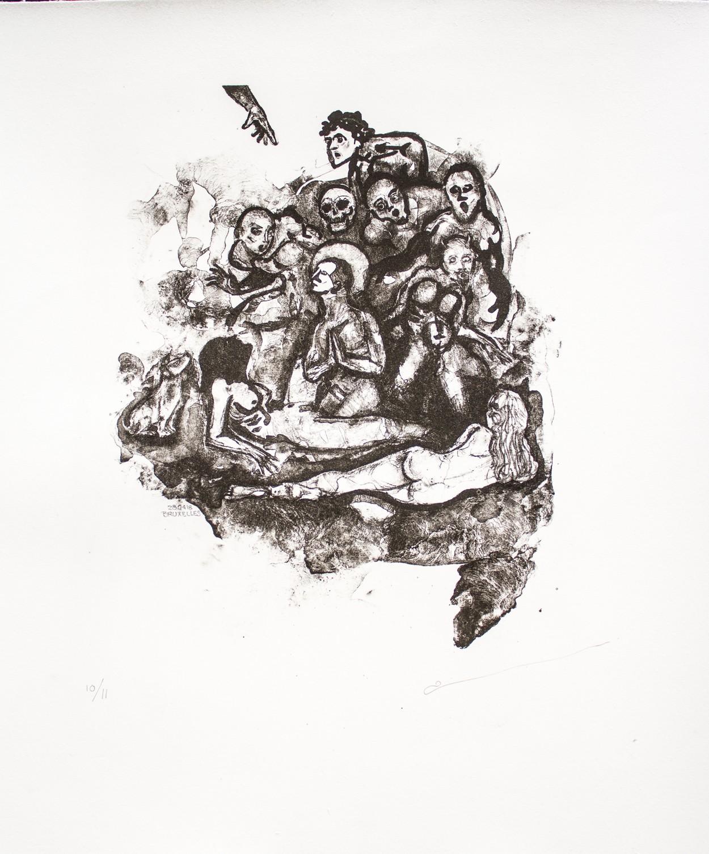 Serie: The Mezcal's Partys, Litografie, 30 x 20, 2018